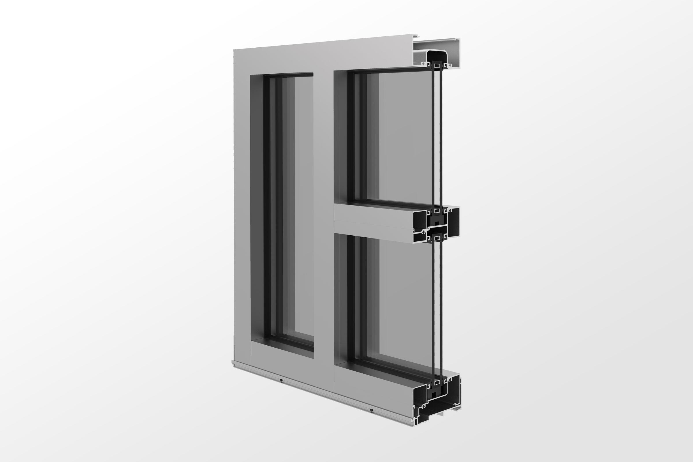 YES FI Center Set Flushed Glazed Storefront System