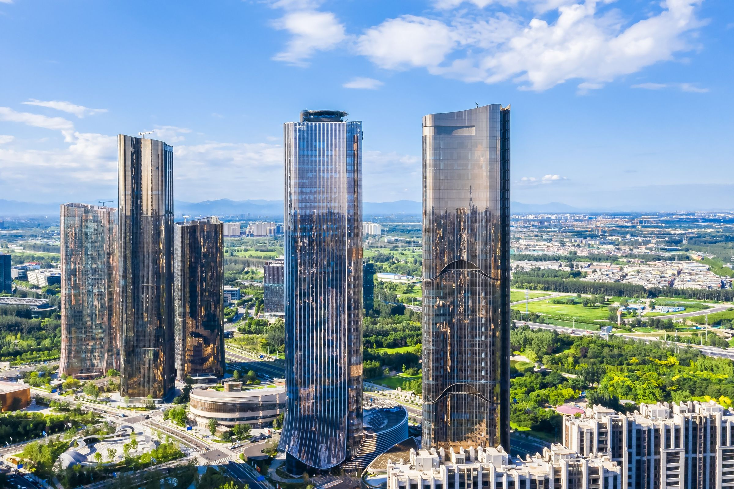 1Da Wang Jing Mixed-use Development, by Andrew Bromberg at Aedas_20_View of towers.jpg
