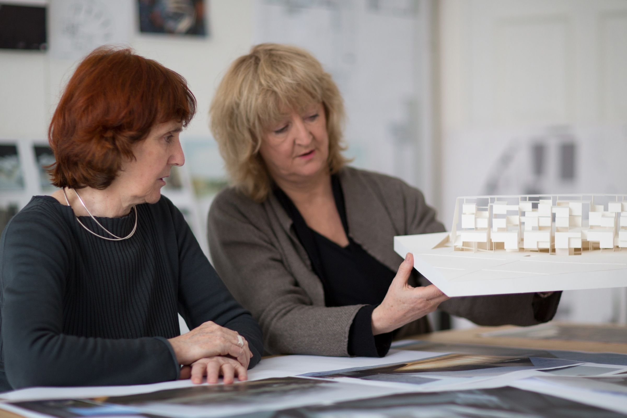 Shelley and Yvonne with UTEC model