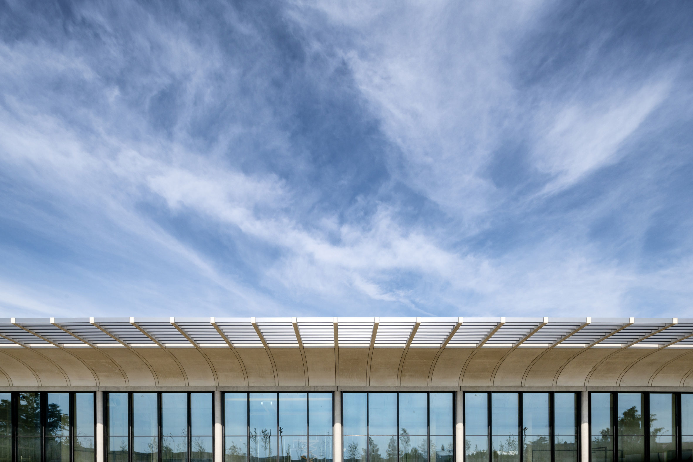 Louvre Conservation Center by Rogers Stirk Harbour + Partners