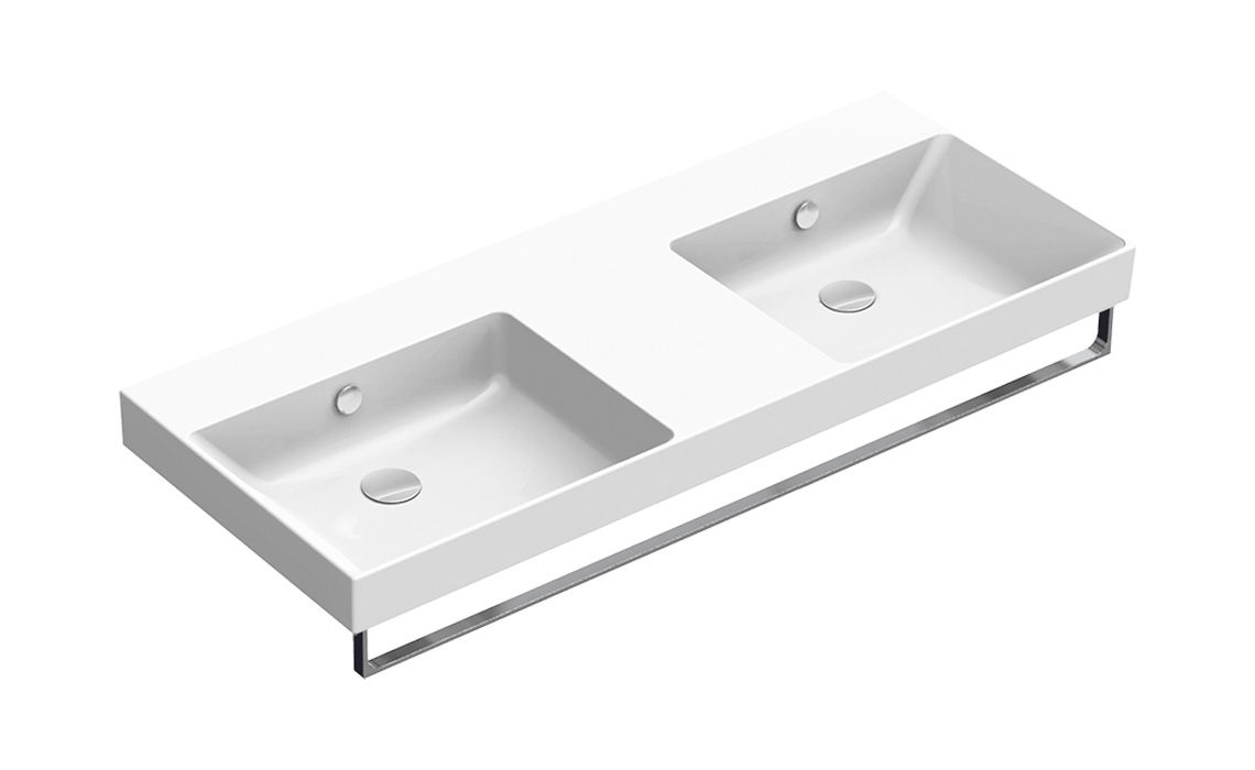 NEW ZERO Washbasin 125x50 Double