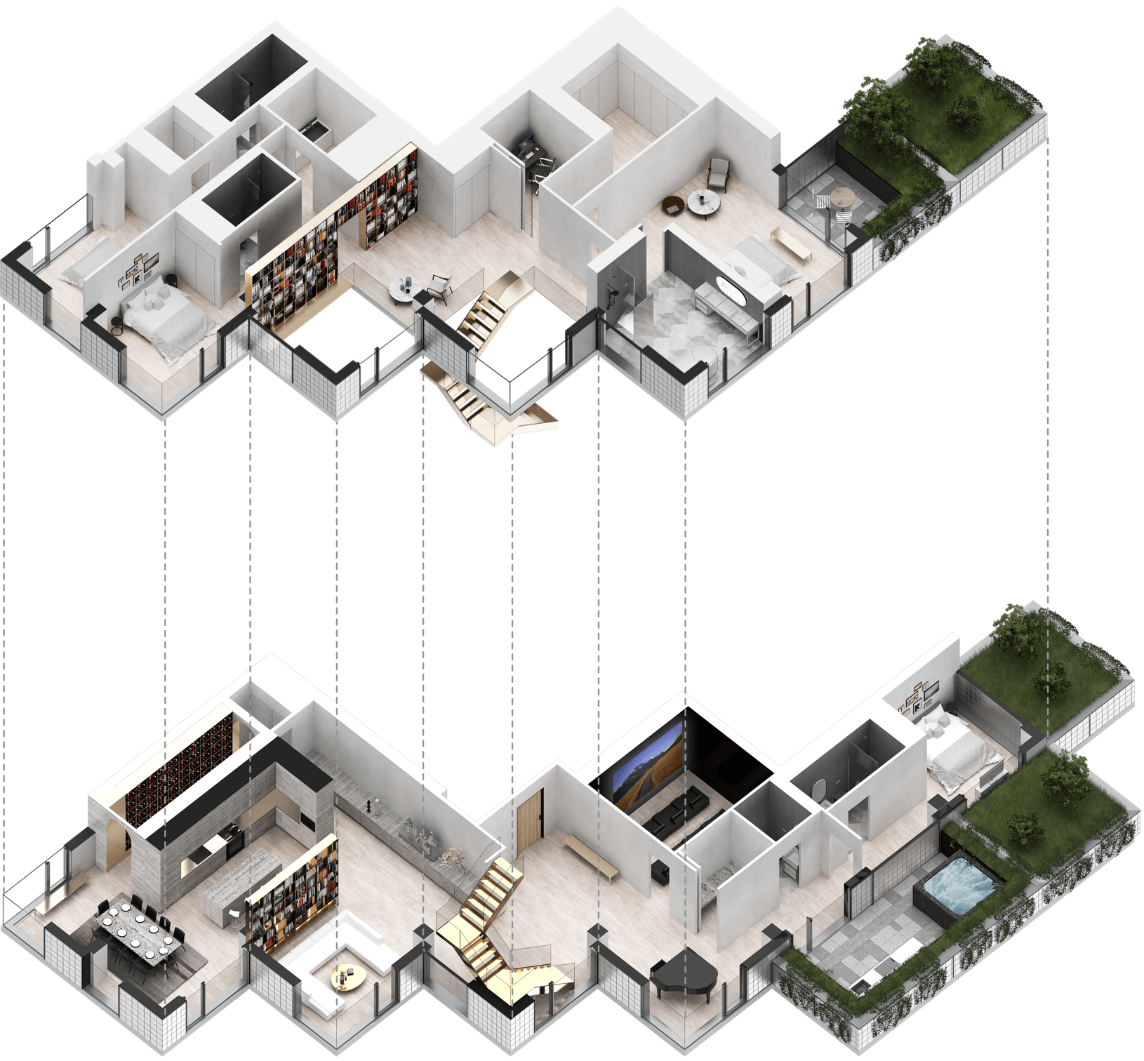 La Bibliothèque floorplan