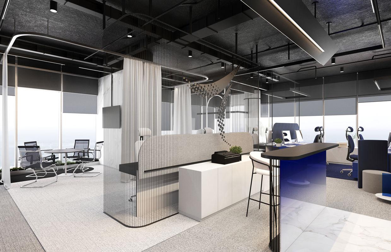 Amaar Real Estate Modern Office Interior Design Comelite Architecture Structure And Interior Design Archello