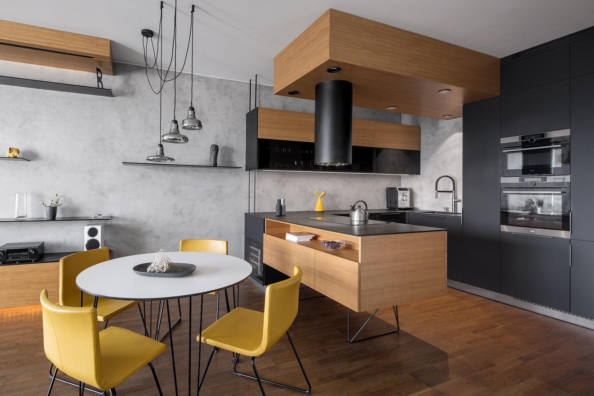 Black kitchen interior   boq architekti   Archello