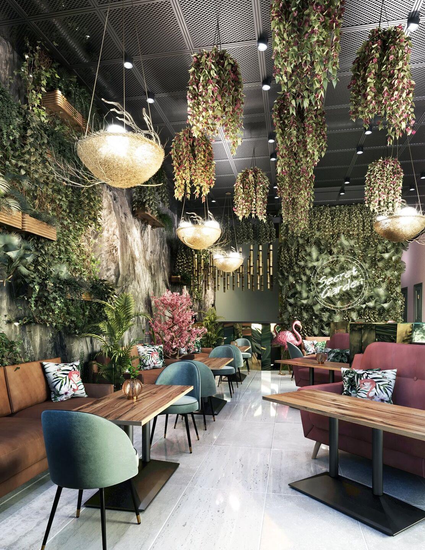 Secret Garden Theme Restaurant Design  Comelite Architecture