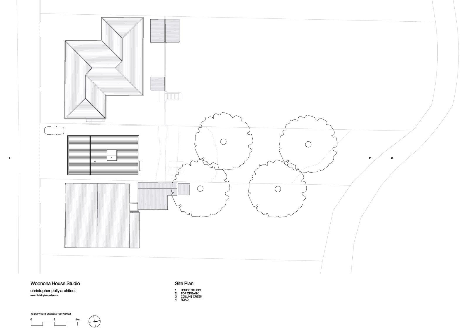 Christopher Polly Architect - Woonona House Studio - Site Plan