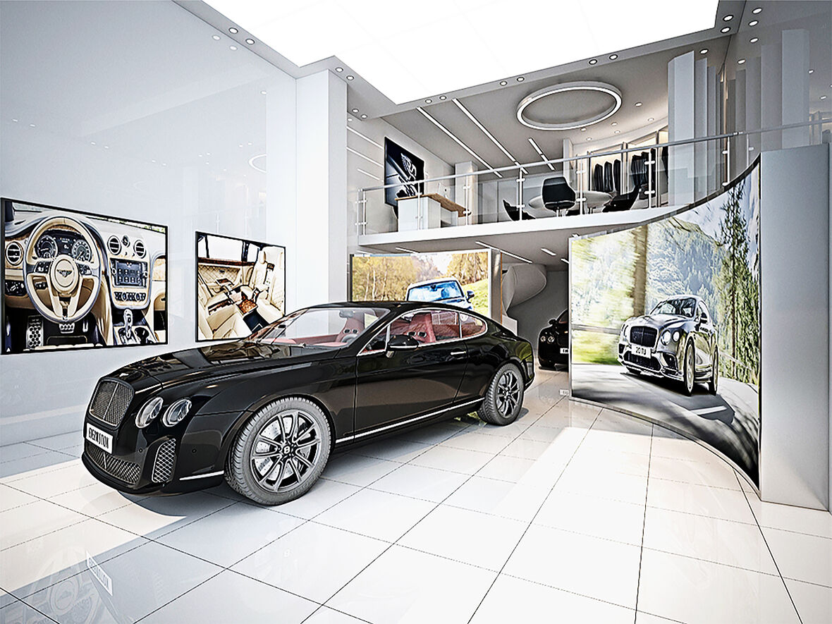 Bentley Car Showroom Simone De Gale Architects Archello