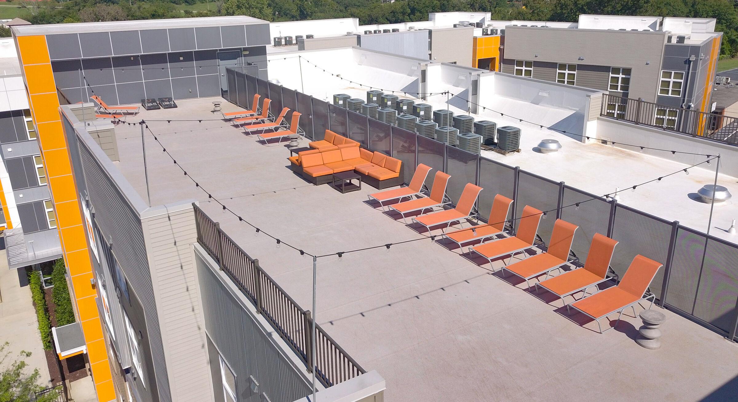 Duradek Ultra Heritage Agate Vinyl Rooftop Terrace at the Lofts at Mercer Landing.