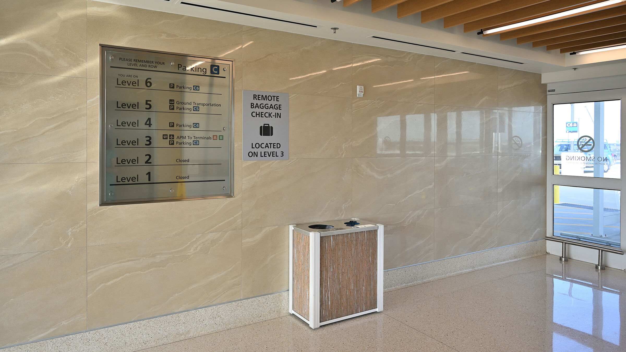 Modern Airport 3form Commercial  Combination Recycling Trash Receptacle 1768.jpg