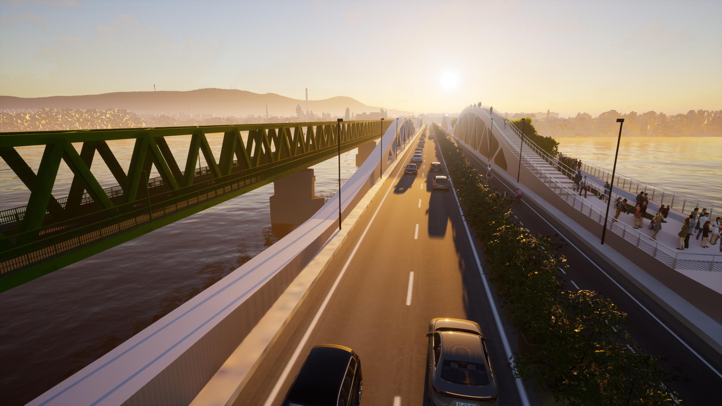 The 'green' bridge - with 2x1 lanes