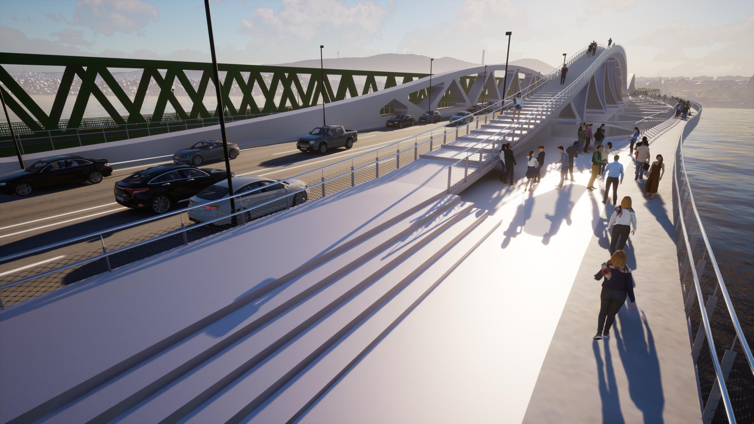 The 'empty' bridge - with 2x2 lanes